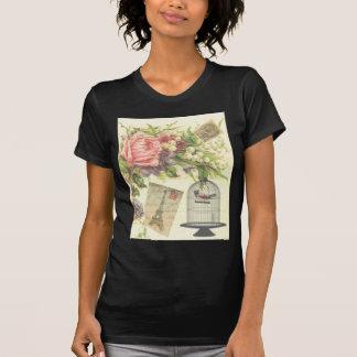 Vintage Colorful Floral Paris Postage T-shirts