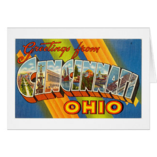 Vintage Colorful Greetings From Cincinnati Ohio Card