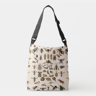 Vintage Colorful Insects Entomology Taxonomy Crossbody Bag