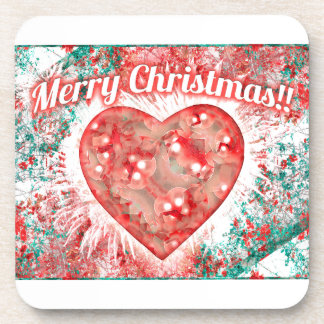 Vintage Colorful Merry Christmas Design Coaster