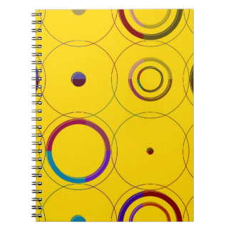Vintage Colorful Retro Pop Art Spiral Notebook