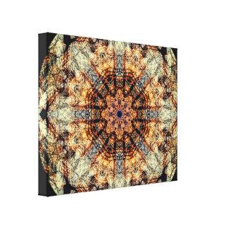 Vintage Colorfully Detailed Mandala Canvas Print
