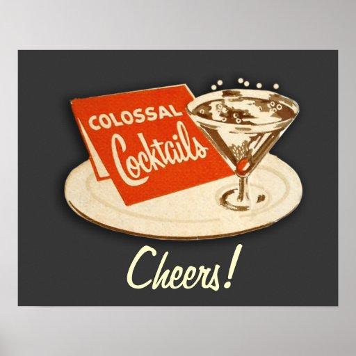 Vintage 'Colossal Cocktails' Poster