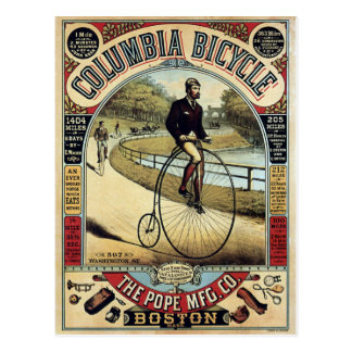Vintage Columbia Bicycles Advertisement Postcard