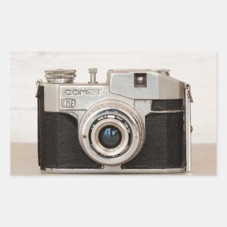Vintage Comet camera Rectangular Sticker