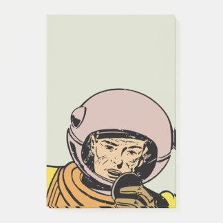 Vintage Comic Book Astronaut Hero Post-it Notes