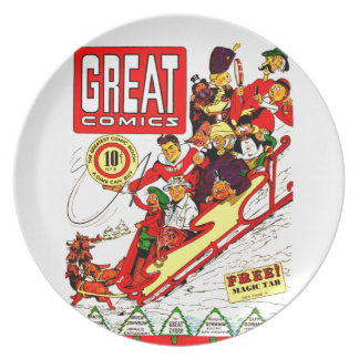 Vintage Comic Characters Dinner Plates