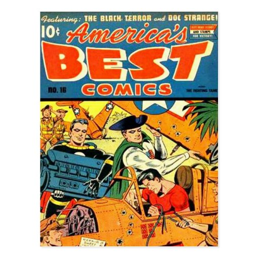 Vintage comic strips - post card