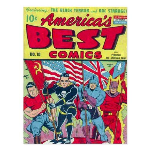 Vintage comic strips - postcard