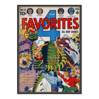 Vintage comic strips - posters