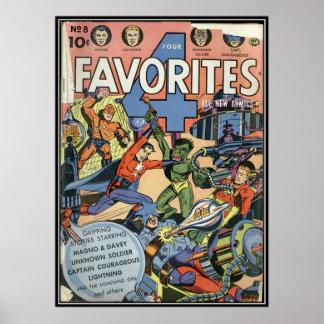 Vintage comic strips - print