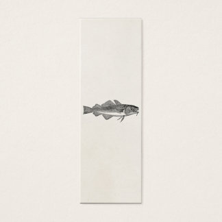Vintage Common Cod Fish - Aquatic Fishes Template Mini Business Card