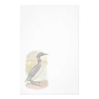 Vintage Common Loon Stationery