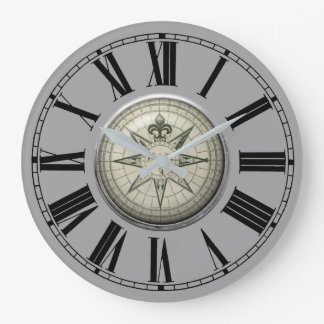 Vintage Compass Clock
