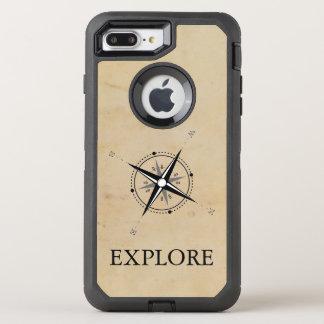 Vintage Compass Rose Explore OtterBox Defender iPhone 8 Plus/7 Plus Case