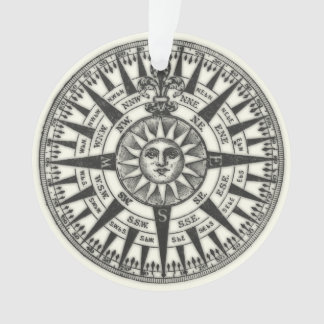Vintage Compass Rose Sun