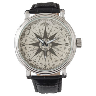 Vintage Compass Rose Watch