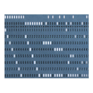 Vintage Computer Punched Card