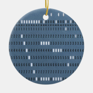 Vintage Computer Punched Card Ceramic Ornament