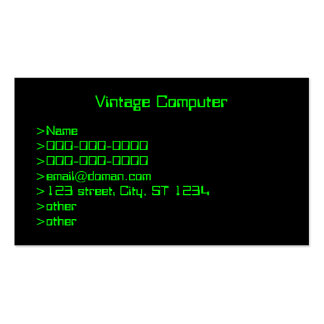 Vintage Computer Screen Business Card Template