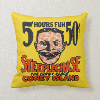 Vintage Coney Island Funny Face Cushion