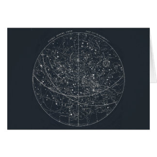 Vintage Constellation Map Card