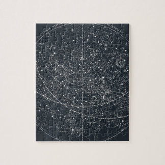 Vintage Constellation Map Jigsaw Puzzle