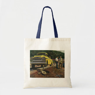 Vintage Construction Business Architect Contractor Budget Tote Bag