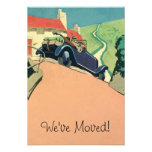 Vintage Convertible Car Change of Address Personalised Invitation