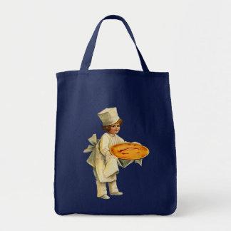 Vintage Cook Grocery Tote Canvas Bag