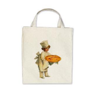 Vintage Cook Organic Grocery Tote Canvas Bag