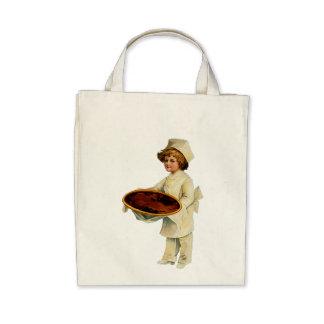 Vintage Cook Organic Grocery Tote Tote Bags