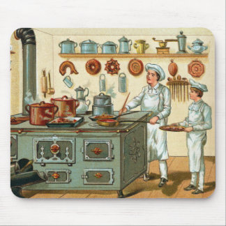 Vintage Cooks in the Kitchen Mouse Pad