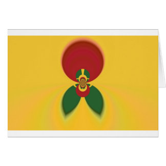 Vintage COOL CUTE RETRO Jamaicans Raster Gift Colo Card