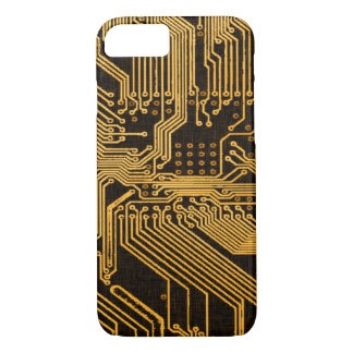 Vintage Copper Ghost Circuit Board iPhone 7 Case