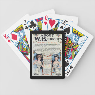 Vintage Corset Ad Playing Cards