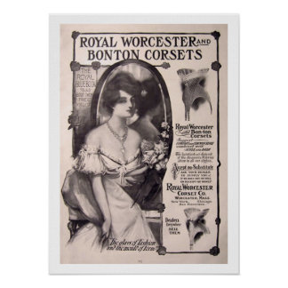 Vintage Corsets Fashion Poster