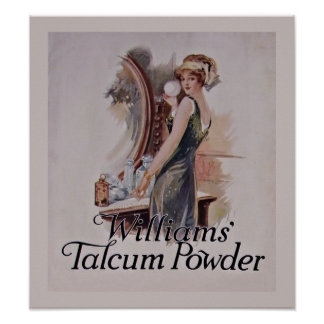 Vintage Cosmetics Williams Talcum Powder Poster