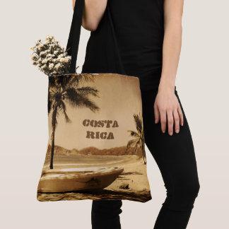 Vintage Costa Rica Beach Tote Bag