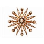 Vintage Costume Jewellery Rhinestones Diamonds Post Cards