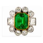 Vintage Costume Jewellery Rhinestones Diamonds Postcard
