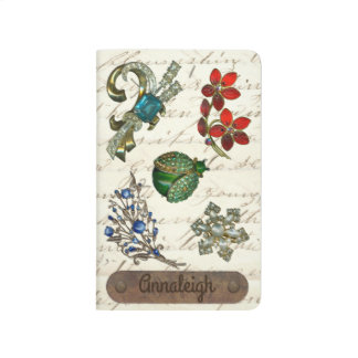 Vintage Costume Jewelry Personalized Name Monogram Journal