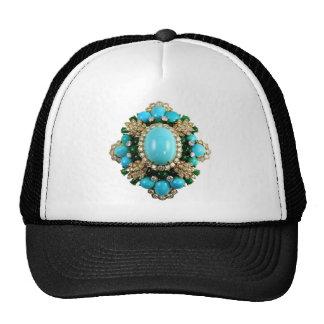 Vintage Costume Jewelry Rhinestones Diamonds Cap