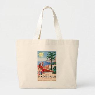 Vintage Cote D Azur Beach Girl Bag