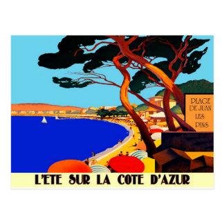 Vintage Cote D Azur French Travel Postcard