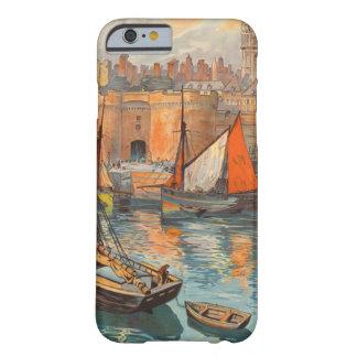 Vintage Cote d'Emeraude Saint Malo Port Tourism Barely There iPhone 6 Case