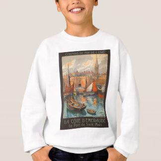 Vintage Cote d'Emeraude Saint Malo Port Tourism Sweatshirt