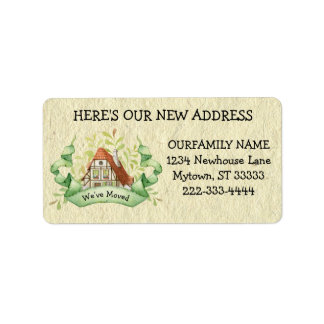 Vintage Cottage Change of Address Label
