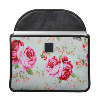 Vintage Cottage Rose Floral MacBook Pro Sleeve