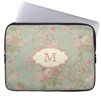 Vintage Cottage Rose Monogram Case